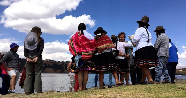 lago Huaypo cabrazos después de la ceremonia